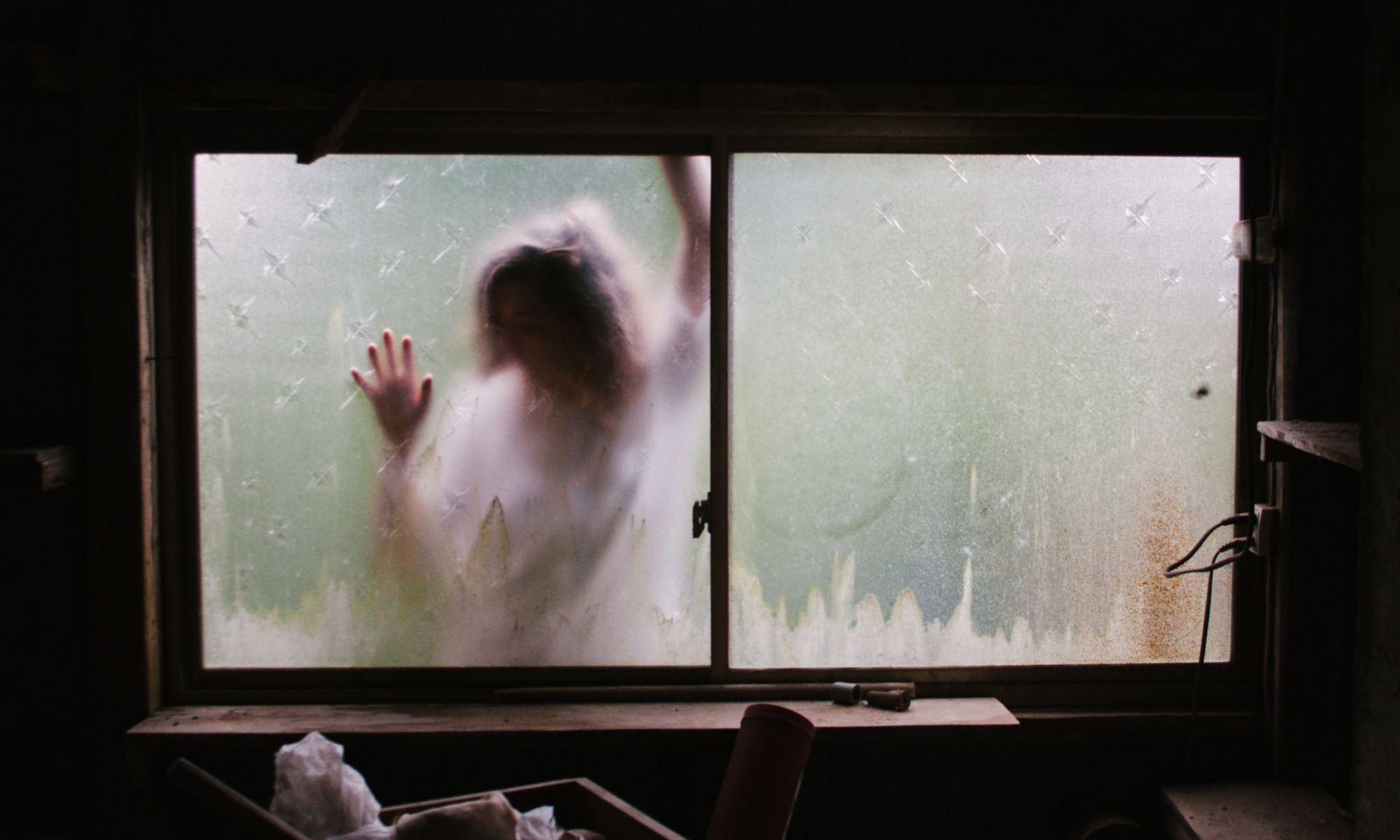 Person outside the window suffering from a mental illness and delusions
