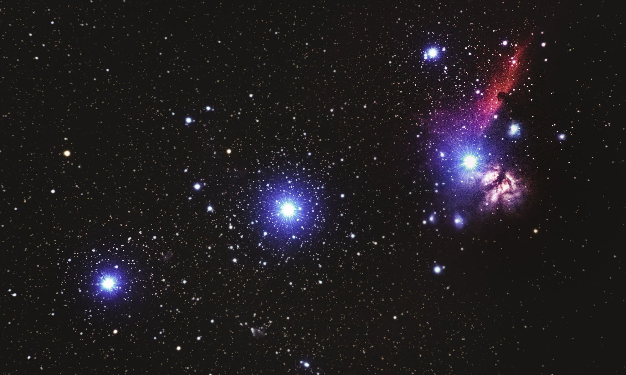 Star constellation in space