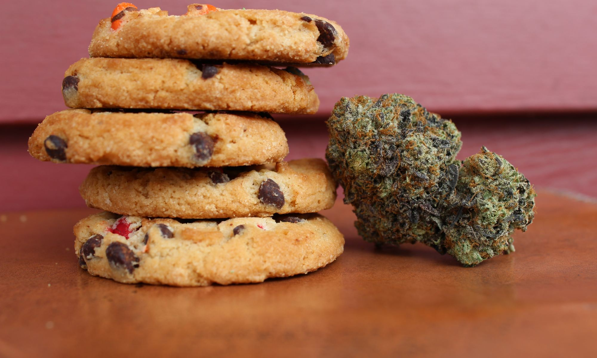 Chocolate chip marijuana cookies and big green bud