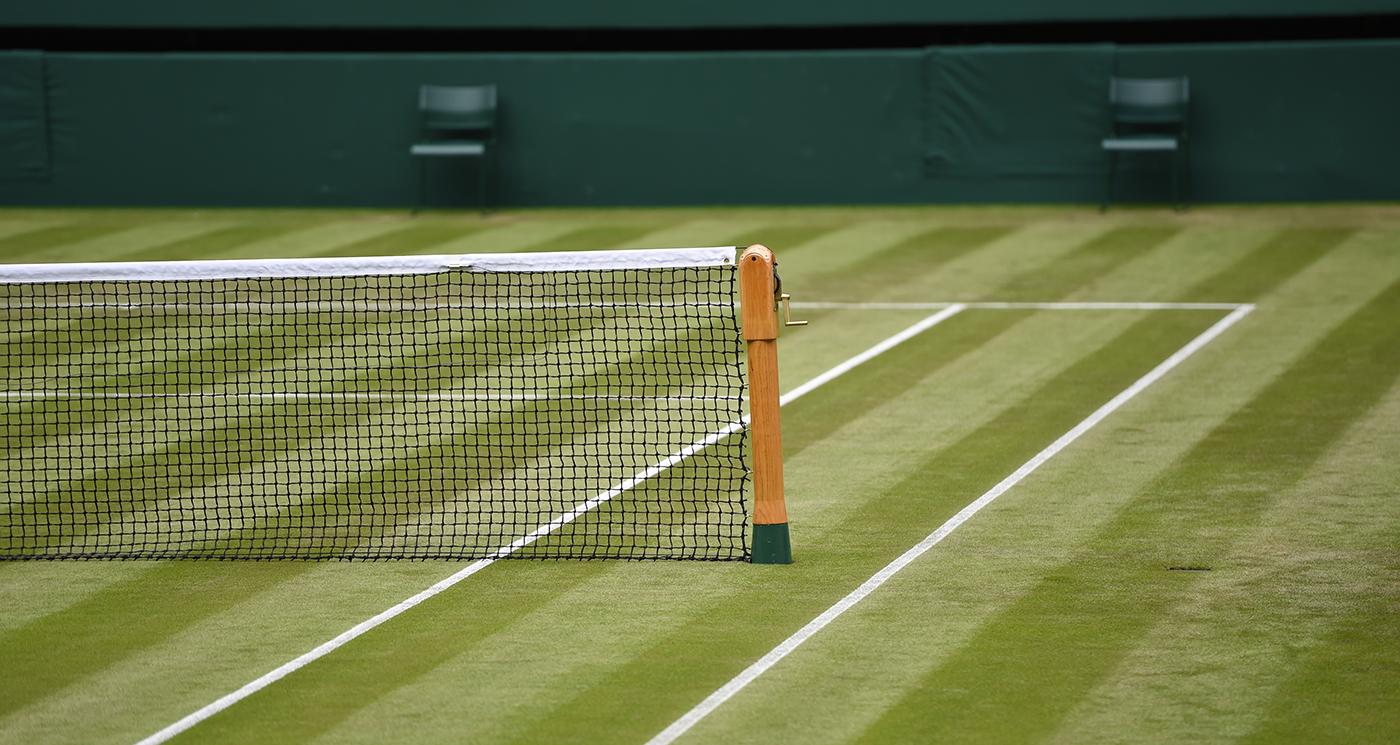 Grass tennis court at Wimbledon